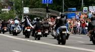 Bikers parade Stock Footage