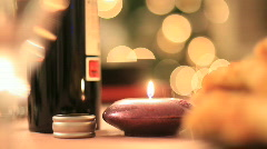 Christmas table Stock Footage