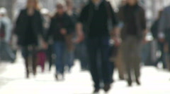 People on sidewalk 12 - stock footage