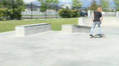 Skateboarding Rail Slide Skate Park HD Stock Footage