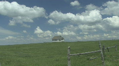 P01029 Historic Church on Great Plains Stock Footage
