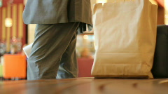At the mall 3 - nervous waiting - stock footage