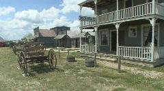 P01030 Western Pioneer Town Stock Footage