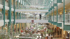 The interior of a shopping mall Stock Footage