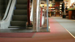 Elevator stairs in a bookshop Stock Footage