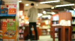 Books on shelves in a bookshop 2 Stock Footage