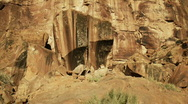 Rock formations Moab Stock Footage