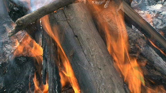 wood fire - stock footage