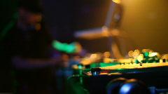 DJ spinning records 3 Stock Footage