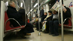 People on the subway 1 - stock footage