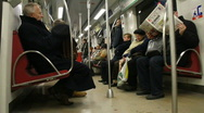 People on the subway 1 Stock Footage