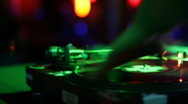 Stock Video Footage of DJ spinning records 2