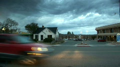 Utah - Morningtime leaving the town Stock Footage