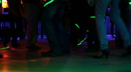 Dancing at the disco club Stock Footage