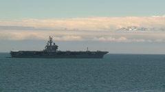 Military, USS Ronald Reagan, aircraft carrier, #1 Stock Footage