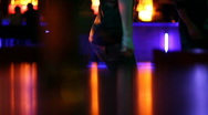 Woman dancing at the disco club Stock Footage