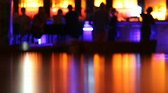 Bar at the disco club Stock Footage