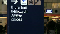 Warsaw Chopin airport 7 Stock Footage