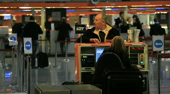 Warsaw Chopin airport 4 - check-in Stock Footage