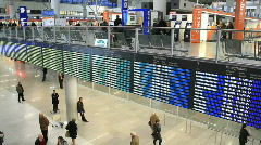 Warsaw Chopin airport 2 Stock Footage