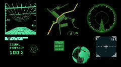 Radar layout,computer devices. - stock footage
