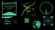 Radar layout,computer devices. Stock Footage