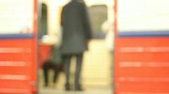 Subway 3 - door closing - stock footage