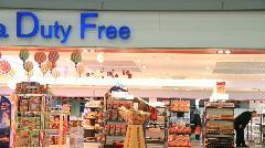 Duty free shop 1 Stock Footage