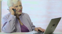 Technology Grandma Stock Footage