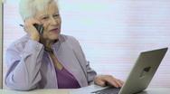 Technology Grandma Stock Footage