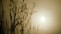 Sun reflecting in lake Salt Lake City Stock Footage