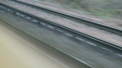 Railway tracks from the train - stock footage