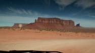 Stock Video Footage of Road down to Monument Valley Area