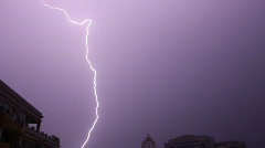 Lightning in the city (HD) Stock Footage