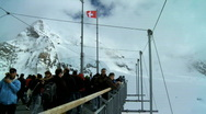 Stock Video Footage of Visitors to Jungfraujoch, Swiss Alps