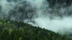 Time-lapse Clouds of Mountain Slopes Stock Footage