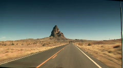 Trafic USA- Utah to Arizona Stock Footage