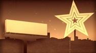 Radar in form of star.Retro style. Stock Footage