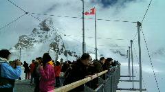 Summit at Jungfraujoch, Switzerland Stock Footage