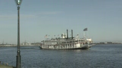 Mississippi River paddle  Boat - stock footage