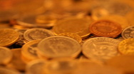 Gold coins Stock Footage