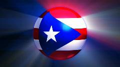 Puerto Rico Globe - stock footage