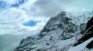 Stock Video Footage of Time-lapse Clouds, Eiger Summit