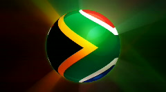 South Africa Globe Stock Footage