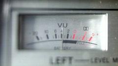 Ghettoblaster radio battery levels retro vintage Stock Footage