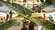 Escalators in the shopping mall 1  Stock Footage
