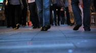 Pedestrians feet walking in city  Stock Footage