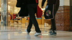 Shopping mall interior 8 Stock Footage