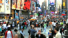 Times Square Crowd Time Lapse - stock footage