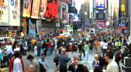 Stock Video Footage of Times Square Crowd Time Lapse